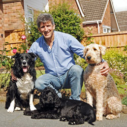 Ade and his dogs